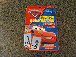 Disney Pixar World of Cars Addition & Subtraction Learning Flash Cards