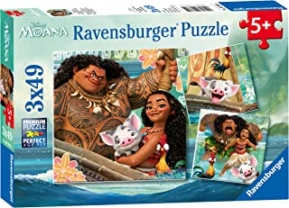 Ravensburger Disney Moana Born To Voyage 49 Piece Jigsaw Puzzle for Kids – Every Piece is Unique, Pieces Fit Together Perf...