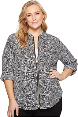 MICHAEL Michael Kors - Plus Size Organic Wave Lock Zip Top
