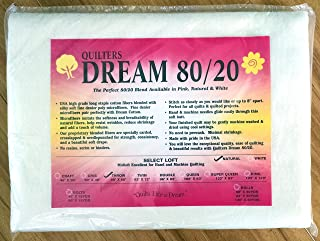 Quilter's Dream 80/20, Natural, Select Loft Batting - Throw Size 60
