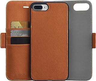 Amazon Basics iPhone 8 Plus / 7 Plus PU Leather Wallet Detachable Case, Brown
