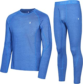 Little Donkey Andy Men's Thermal Underwear Long Johns Set Top & Bottom Performance Base Layer with Fly Blue S