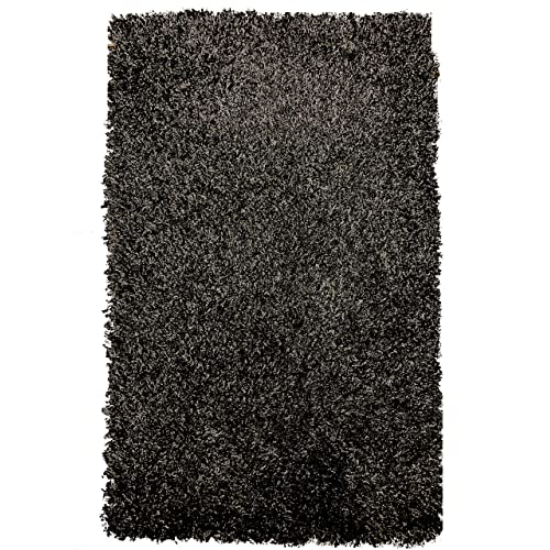 SuperRugStore Shaggy Thick Modern Luxurious Charcoal Dark Grey Gray Rug High Pile Long Pile Soft Pile