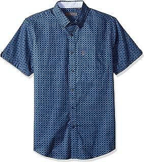 Ben Sherman Men's Ss Diamond Lnk PRNT Shirt