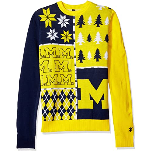 76bc80c950f7c Michigan Wolverines Ugly Christmas Sweater  Amazon.com