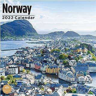 2022 Norway Wall Calendar by Bright Day, 12 x 12 Inch, Oslo Norwegian Scandinavian