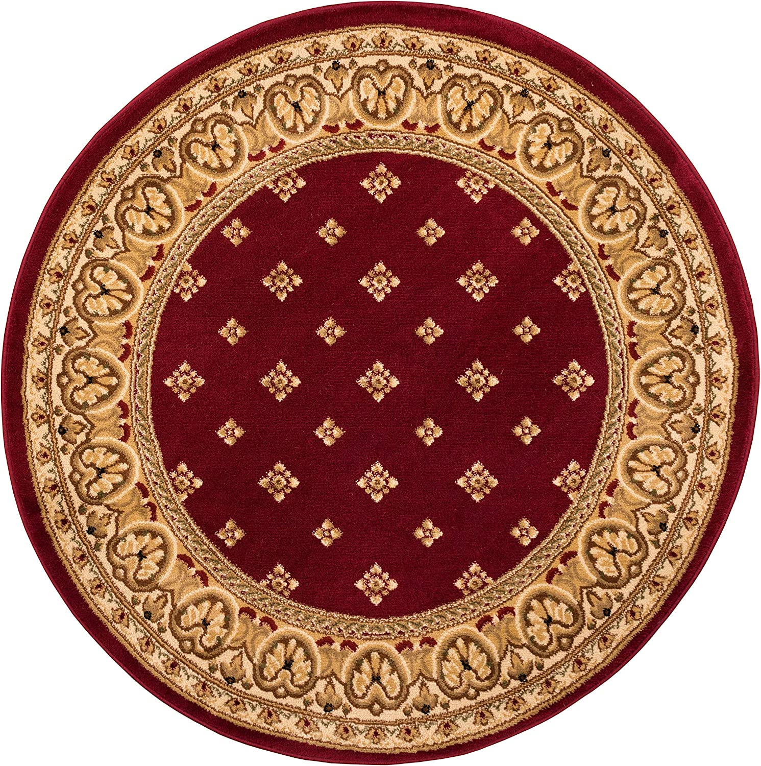 Noble Palace Red French free shipping European Traditional 5' 5 Round Over item handling ☆ Formal