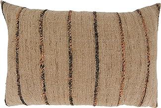 وسادة أريكة مخططة محشوة لأسفل من مجموعة لويس من سارو لايف ستايل مقاس 40.64 سم × 60.96 سم، طبيعية