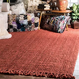 nuLOOM Natura Collection Chunky Loop Jute Rug, 5' x 7' 6