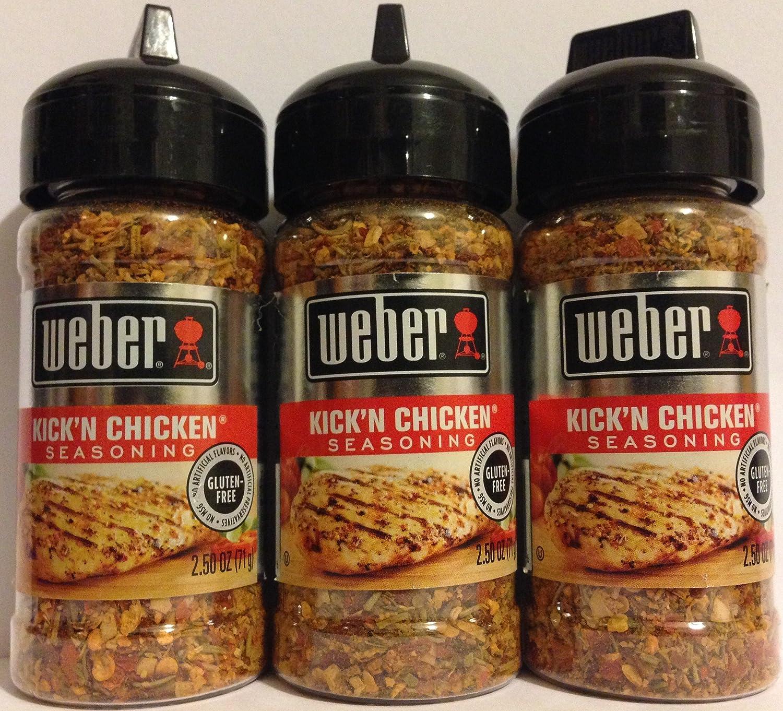 Weber Seasoning - Kick'N Chicken Net Wt. g OZ 2.5 Our shop OFFers the Outlet sale feature best service 71 Bot Per