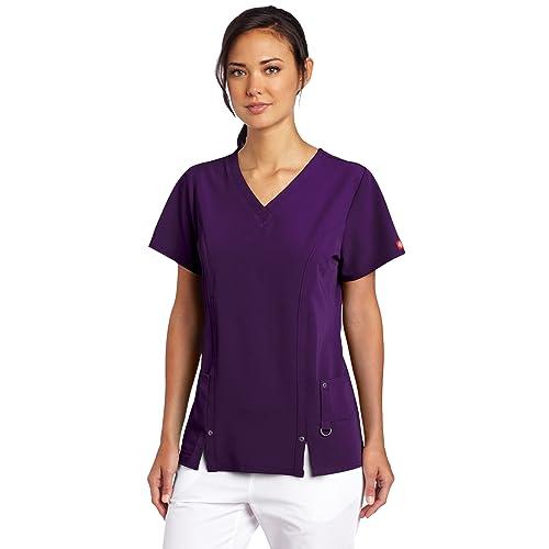 3b7114691cc Dickies Women's Scrubs Xtreme Stretch V-Neck Shirt