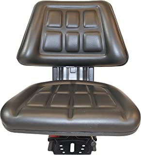 Black TRIBACK STYLY SYSPENSION Tractor SEAT FITS Massey Ferguson 283 290 294 350 356 362 375 385 390 398 399 451 550 565 575 590-5 Position TILT (Fast DELIVERY - 1-4 Business Day DELIVERY)