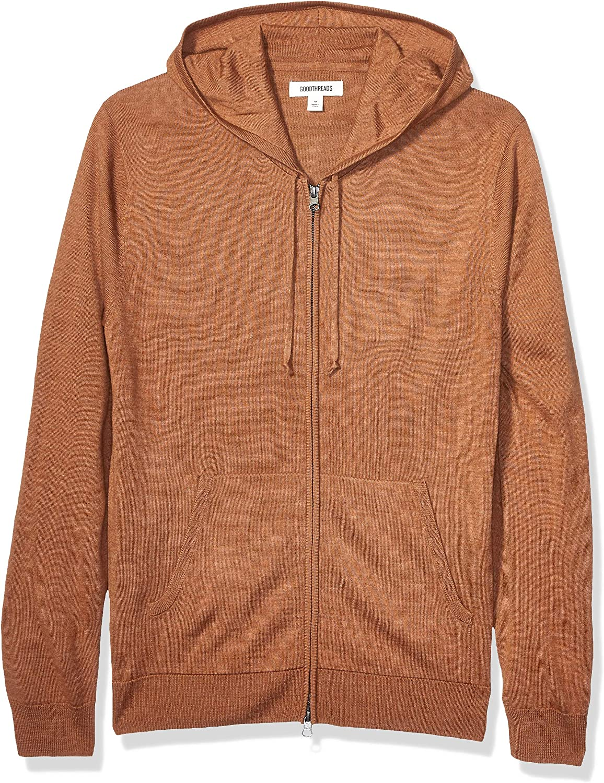 famous Men's Lightweight Merino Wool Fullzip Acrylic Hoodie Max 71% OFF Sweater