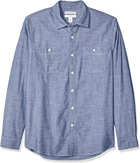 Men's Slim-fit Long-Sleeve Chambray Shirt