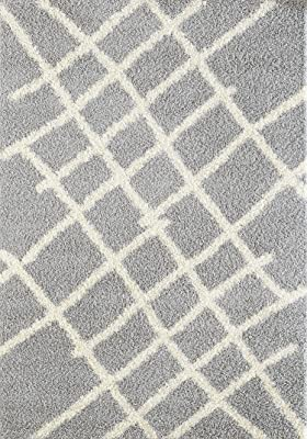 """A2Z Rug Moroccan 5530 Shag Collection Gray, Ivory 2'7"""" x 5' FT Area Rugs Living Room Dinning Room Play Room"""