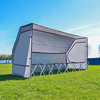 Net World Sports Portable Multi-Sport Team Shelters | 8-Seat Team Bench Also Available
