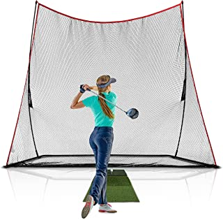 Rukket 3pc Golf Net Bundle, 10x7ft Haack Golf Hitting Net, Tri Turf Mat & Carry Bag,..