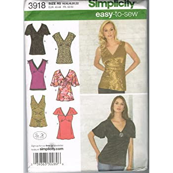 Simplicity Easy to Sew 9693 Blouses