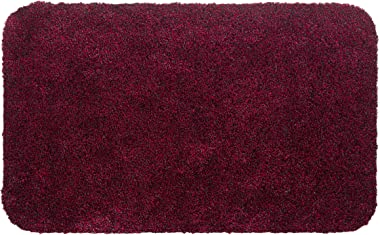 Aqualuxe Polyester Entrance Mat for Indoor Use 40 x 60 cm Red