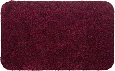 Aqualuxe Polyester Entrance Mat for Indoors - Red, 60 x 100 cm