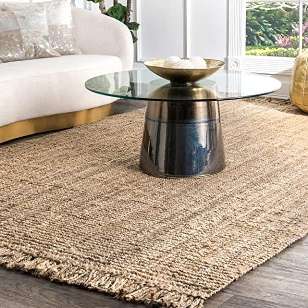 NuLOOM NCCL01 8010 Collection Chunky Loop Jute Rug 7 6 X 9 6 Natural