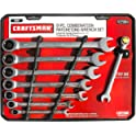 Craftsman 8 Piece Full Polish Ratcheting Wrench Set