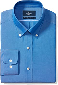 Buttoned Down Men's Classic Fit Button-Collar Solid Pinpoint Dress Shirt