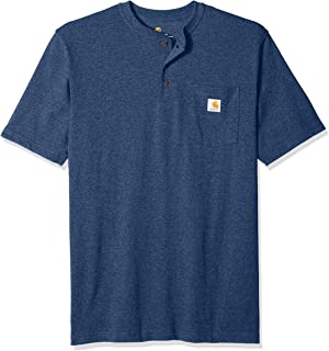 Men's Big and Tall Workwear Pocket Short Sleeve Henley Midweight