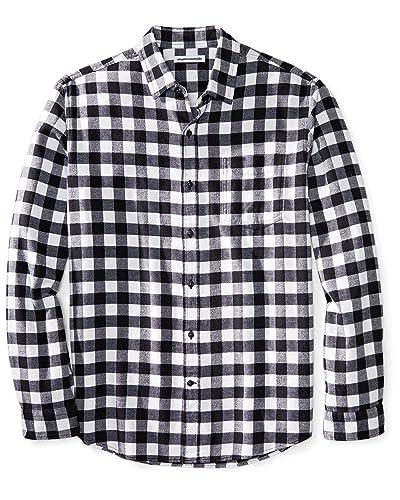 e959eaa1218 Men s Black Flannel Shirt  Amazon.com