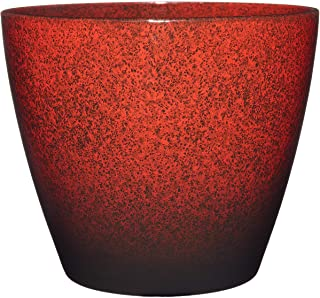 """Classic Home and Garden 807-376R Vogue Planter, 8"""", Lava Red"""