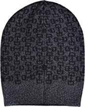 Gucci Unisex Multi-Color 100% Wool Beanie Hat One Size Gray/Black