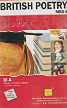 Ignou MA (Latest Edition 2019) MEG-1 British Poetry in English Medium, IGNOU Help Books with Solved Sample Question Papers and Important Exam Notes