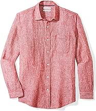 Amazon Essentials Men's Regular-Fit Long-Sleeve Linen Shirt