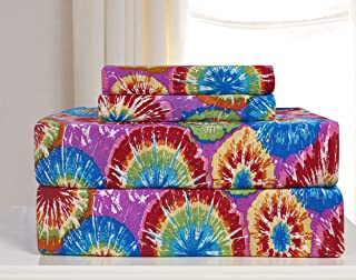 Madison JER-Full-TD Jersey Sheet Set, Tie Dye
