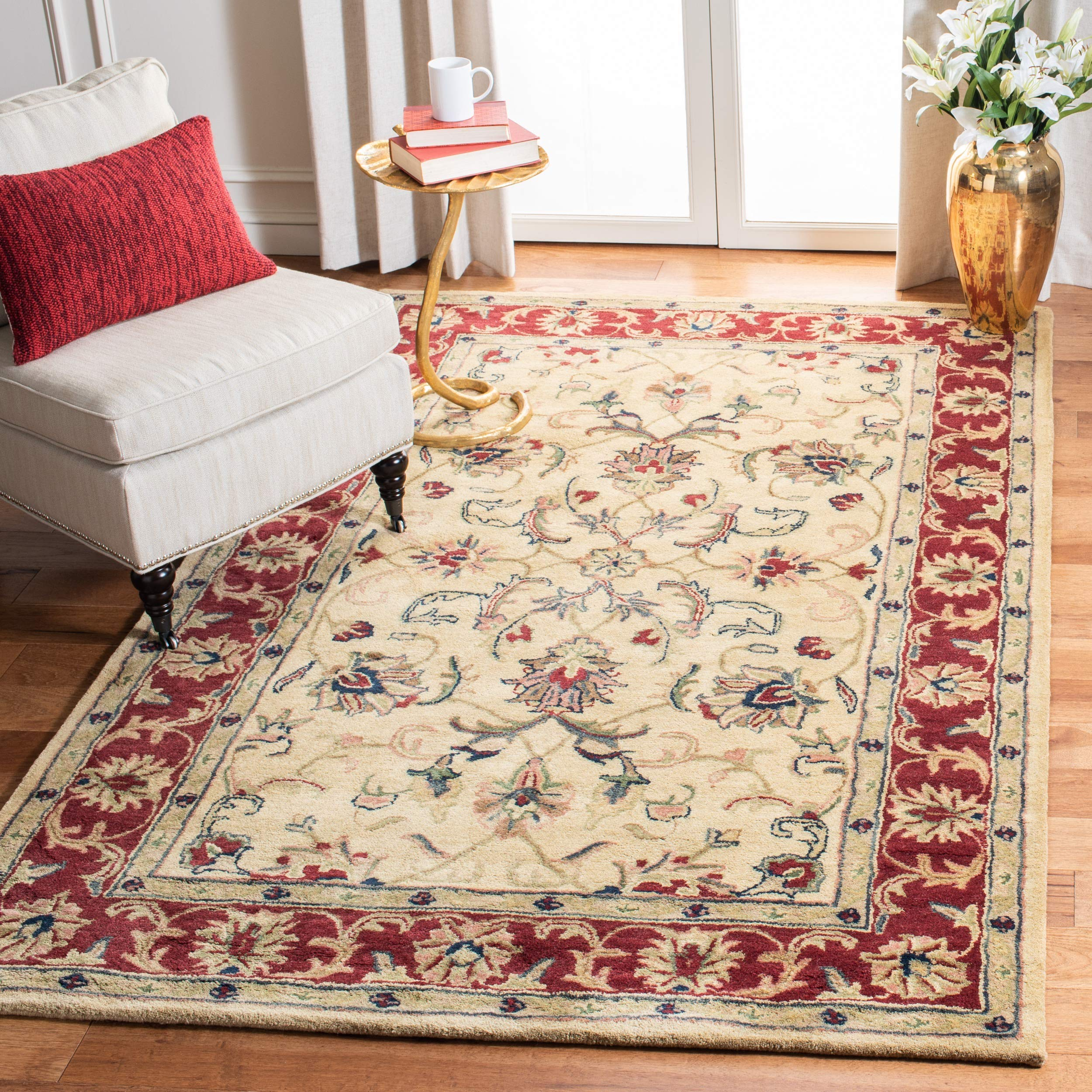 Safavieh Classic Collection Cl398a Handmade Traditional Oriental Premium Wool Area Rug 5 X 8 Gold Red Furniture Decor