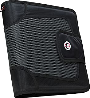 Case-it Open Tab Velcro Closure 2-Inch Binder with Tab File, Black, S-816-BLK