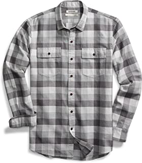 Amazon Brand - Goodthreads Men's -Fit Long-Sleeve Plaid Herringbone Shirt