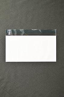 印刷透明封筒 洋0 【500枚】 OPP 50μ(0.05mm) 表:白ベタ 切手/筆記可 静電気防止処理テープ付き 折線付き 横235×縦120+フタ30mm印刷可