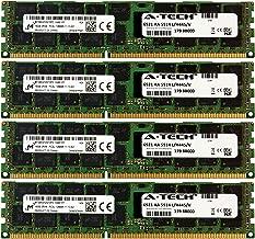 A-Tech Micron 64GB Kit 4X 16GB PC3-12800 1.35V for HP ProLiant SL250S G8 687465-001 SL335S G7 ML370 G6 SL390S G7 DL360 G6 672612-081 DL360P G8 DL370 G6 DL380E G8 DL380 G6 684031-001 Memory RAM