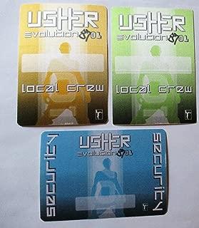 3 Usher Evolution 8701 Tour Satin Backstage Passes