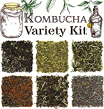 Solstice Kombucha Loose Leaf Tea Variety Kit -Sampler Assortment Features 6 Favorite Hand-Mixed Blends Perfect For Beginner & Enthusiast Brewing - Creates Approx 12-15 Gallons Total