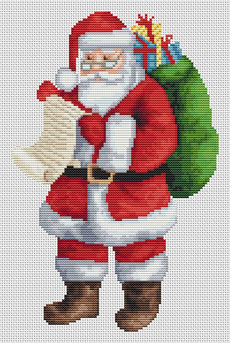 Santa's List Counted Cross Stitch Kit by Orcraphics …
