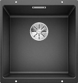 BLANCO SUBLINE 400-U – Granitspüle aus SILGRANIT für 50 cm breite Unterschränke – Unterbau – grau – 523422