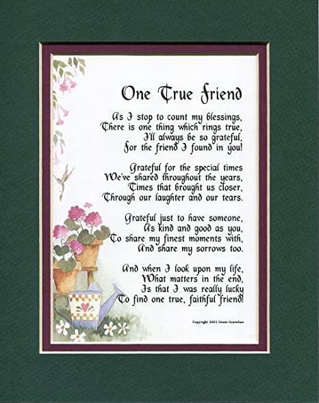 English poem in on friendship Quick Answer: