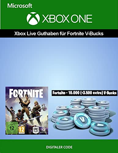 Xbox Live Guthaben für Fortnite - 10.000 V-Bucks + 3.500 extra V-Bucks | Xbox One - Download Code