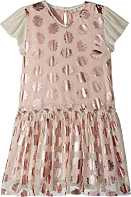 Stella McCartney Kids - Bellie Tulle Dress w/ Metallic Seashells (Toddler/Little Kids/Big Kids)