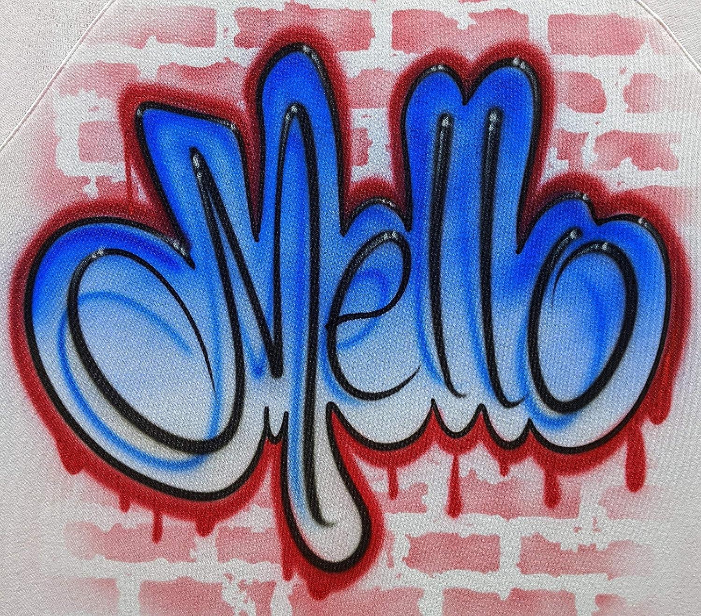 Super-cheap Airbrush Miami Mall Graffiti Blue Red Shirt T Design Name