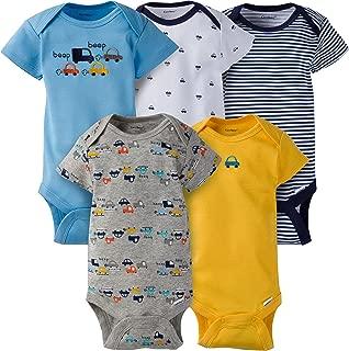 Gerber Baby Boys' 5-Pack Variety Onesies Bodysuits, Little Cars, 0-3 Months