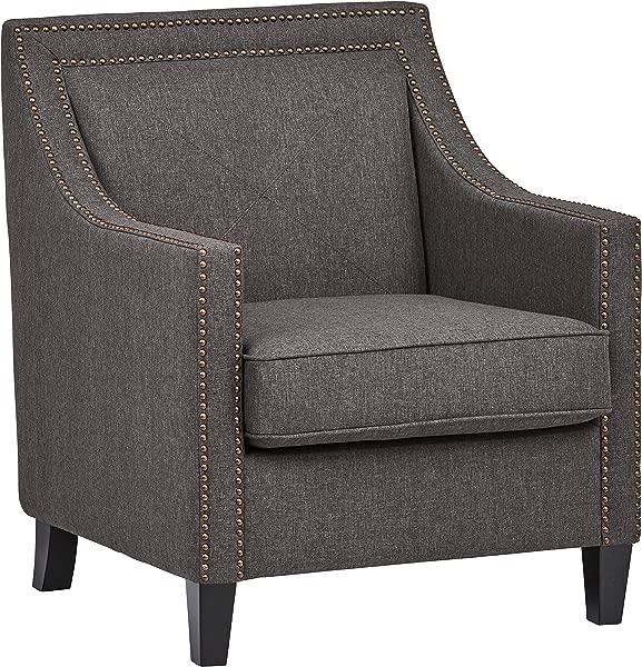 拉韦纳家坡钉头修剪口音椅子 30 瓦灰色