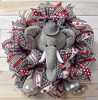 Alabama Sports Wreath, Alabama Elephant Wreath, College Wreaths (2191-2)